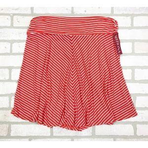 NWT Merona Striped Stretch A-Line Skirt XXL